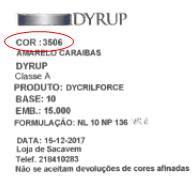 Etiqueta Cor